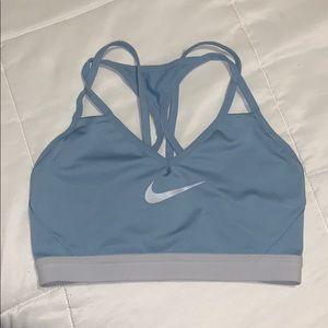 Medium light blue Nike sports bra